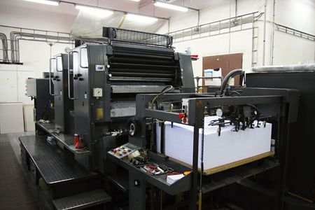 Offset machine Reklamní fotografie