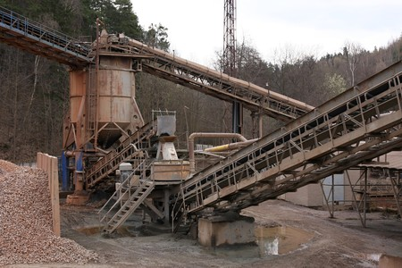 conveyors: Belt conveyors in a gravel pit