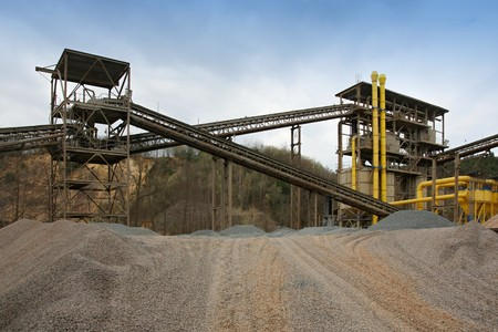 pits: Gravel pits Stock Photo