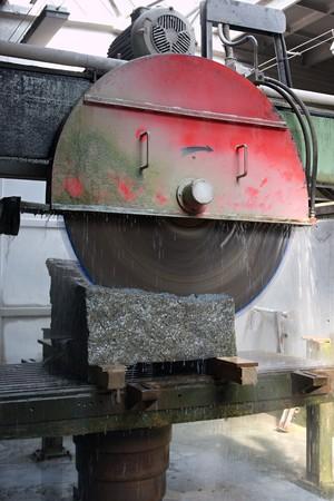 Circular saw for cutting stone photo