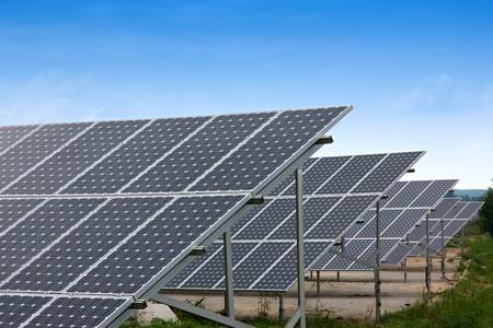 cobradores: Colectores solares de una planta industrial de energ�a alternativa
