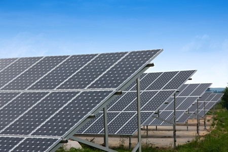 Solar Collectors of an industrial plant for alternative energy Stock Photo - 7597150