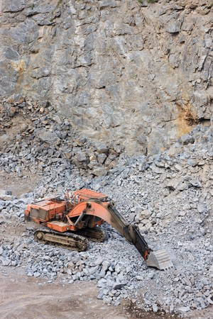 Mining in the quarry and digger