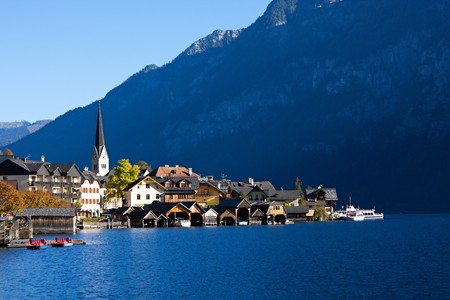 美しいハルシュタット オーストリア 写真素材