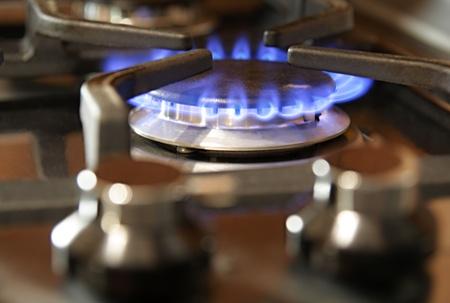 gas cooker: Quemador de cocina de gas Foto de archivo