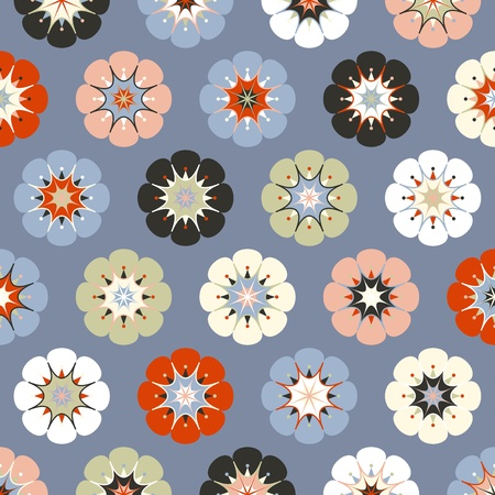 temlate: Painted flowers background