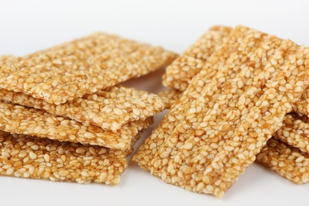 Brittle sesame and caramel candy