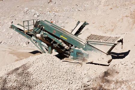 Quarry conveyor belt machine, Austria