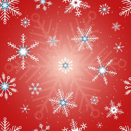Collection of red snowflakes with different shapes Stock Photo