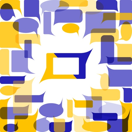 Colorful background made from speech bubbles  Stock Photo - 11296151