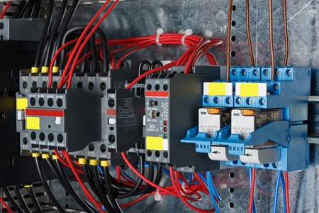 New control panel with static energy meters and circuit-breakers (fuse) photo