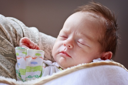 Baby girl sleepingand dreaming Stock Photo - 11713369
