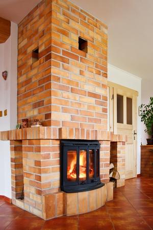 wooden insert: Fireplace