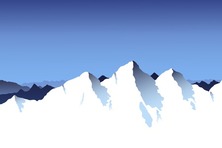 snowcapped landscape: Mountain Range Background