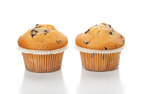 Chocolate chip muffin photo