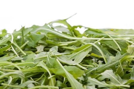 ruccola: Ruccola salad fresh heap leaf  Stock Photo