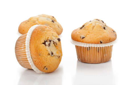 Chocolate chip muffin photo