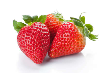 Isolated fruits - Strawberries  photo