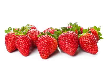 Isolated fruits - Strawberries on white background photo