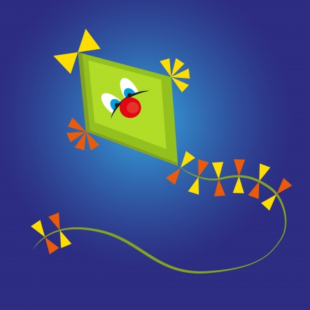 Kite cartoon on blue background  Stock Photo - 14334839