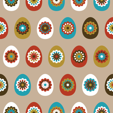 Seamless pattern with easter eggs Illustration