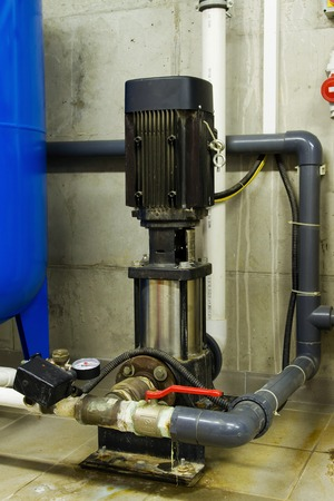 water pipes: Water pipes in the boiler room and electric motors
