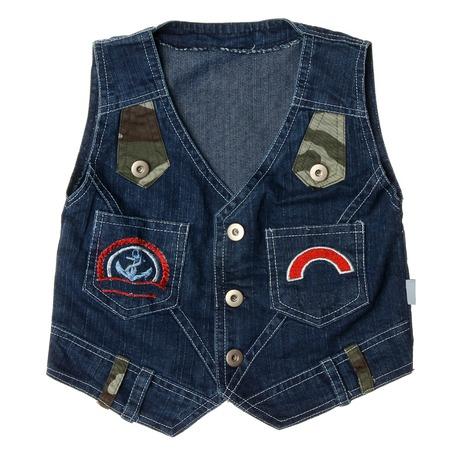 Blue childrens denim vest