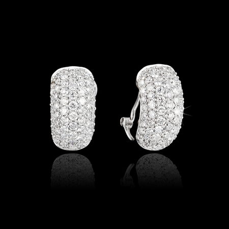 Diamond Earrings on black background photo