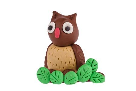 Owl made of plasticine