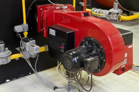 Przemysłowe kotły gazowe z palnikiem Zdjęcie Seryjne