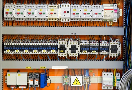 enclosures: Control panel with static energy meters and circuit-breakers (fuse)