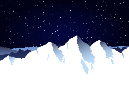 mountaintop: A snowy mountain range background with blue sky