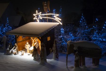 nacimiento de jesus: Bel�n Foto de archivo