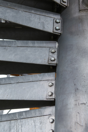 helicoid: Metal modern spiral staircase details