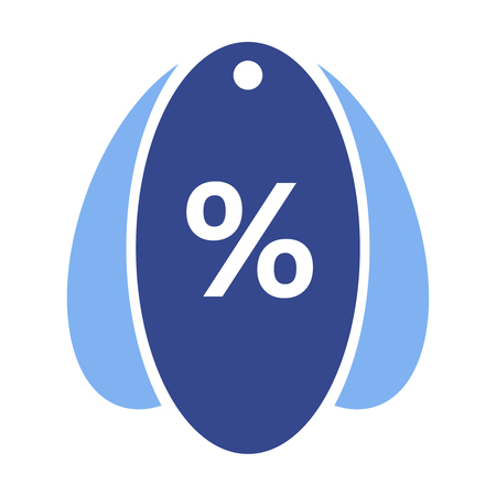 allowed to pass: Vector icons - label with percentage discount  isolated on transparent background.