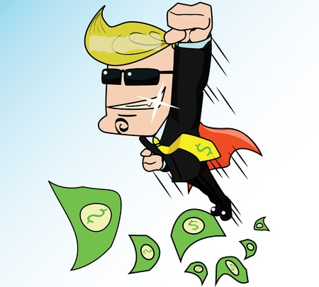 salaryman: Super Business Man is a cartoon vector concept about business man to be success , or to be number one