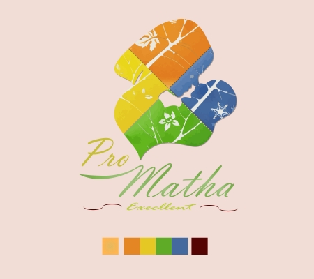 Pro Matha is a Abstract logo about lovely family or love of mother it s have to her baby in all time ,all season Illustration