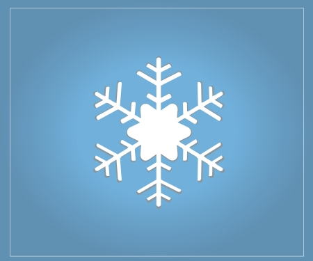 Christmas Snow Flake Blue Card vector graphic Stock Vector - 16850590