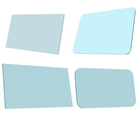 naming: Blank template business card Illustration