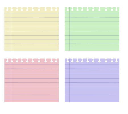 post it notes: Paper Note Four Color Graphic Vector  Illustration