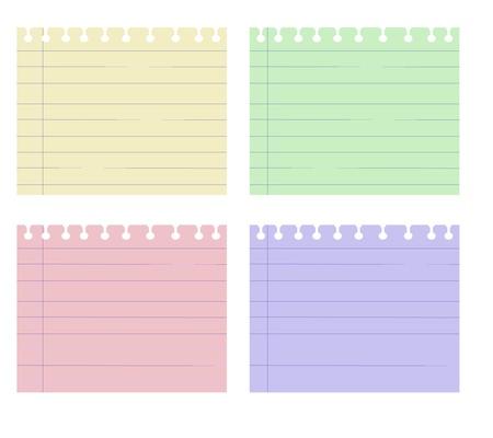 Remarque papier Quatre Vector graphique couleur Banque d'images - 16850567