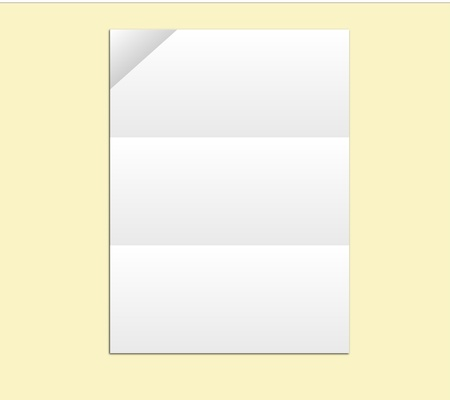 Blank White Paper Vector you can add Artwork