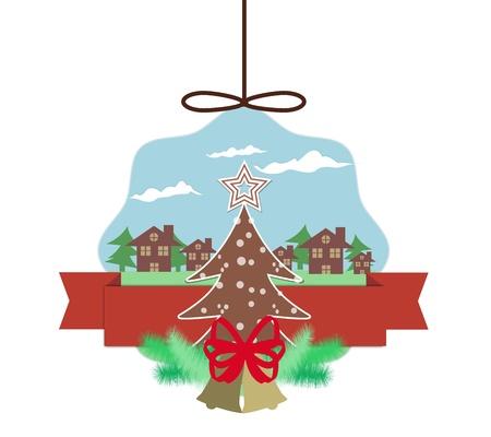 Christmas Card Blue Sky In Christmas Eve Stock Vector - 16850634