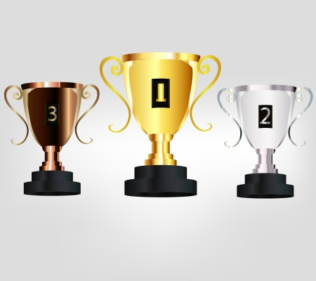 Champion Cup Golden Silver Bronze in graphic vector
