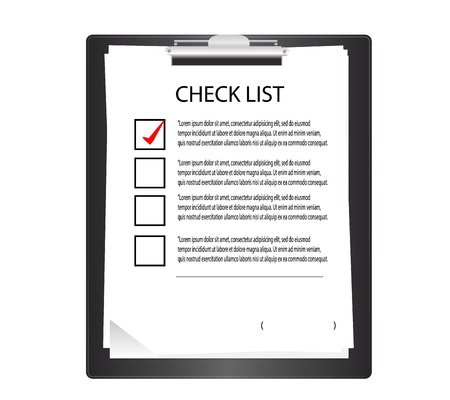 Clipboard with check list  in graphic  Stock Vector - 16899200