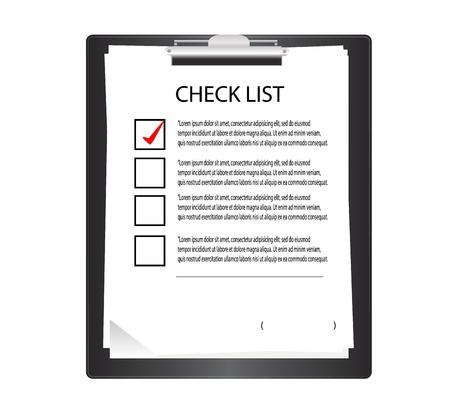 Klembord met checklist in grafische Stock Illustratie