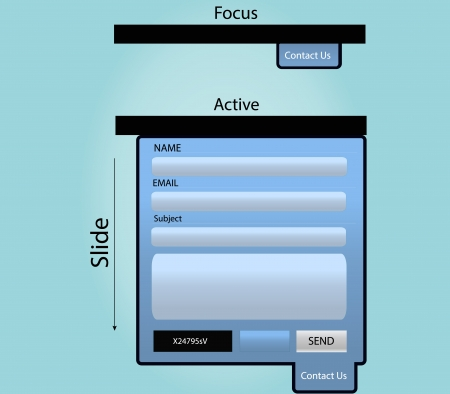drop down: Slide Contact Form Element Vector For your web site Illustration