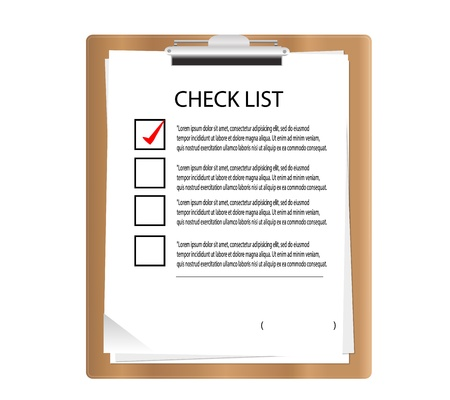 Brown Clipboard with check list in graphic