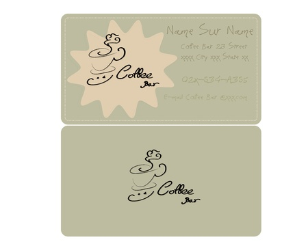 Coffee Business Card Retro Style Vector