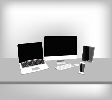 Computers and gadgets Illustration